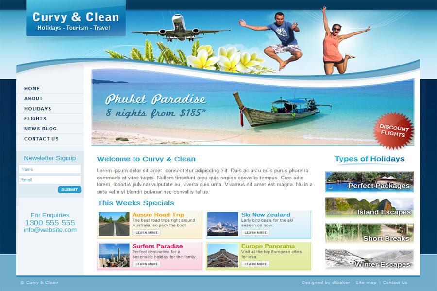 Lựa chọn theme website du lịch