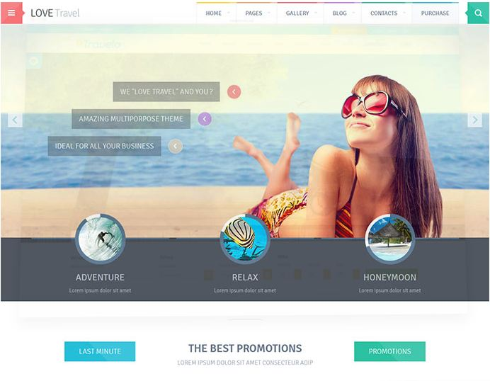 Giao diện website du lịch lovetravel