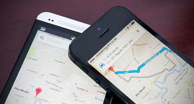 Ứng dụng bản đồ Google maps