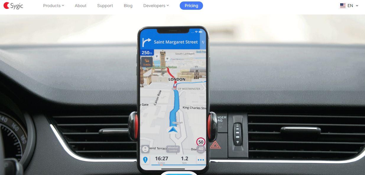 Phần mềm bản đồ trên điện thoại - Sygic