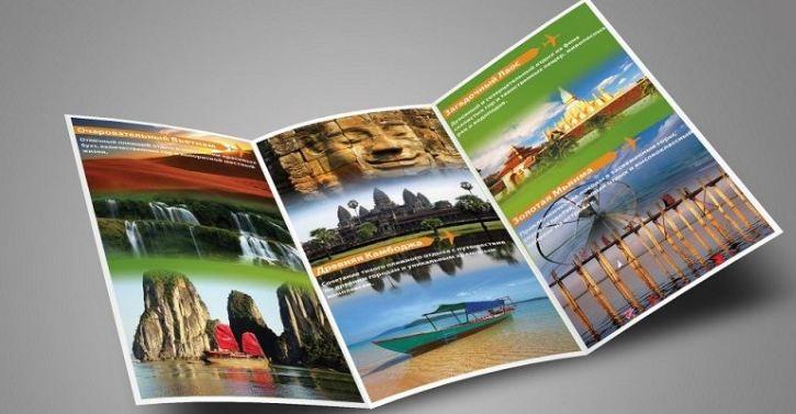 Kích thước chuẩn brochure du lịch